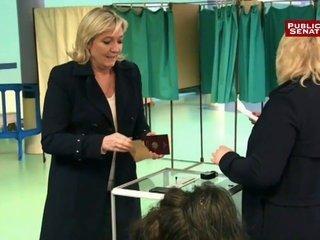 Marine LE PEN votant
